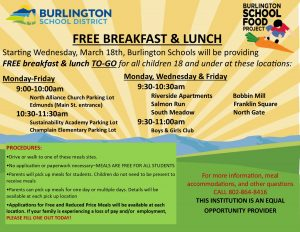 Free Breakfast and Lunch dates and locations